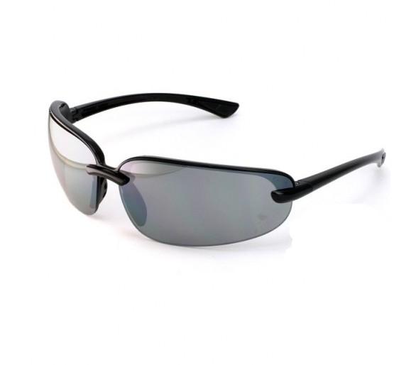 Protocolo Pyramex SB 6220D, óculos de segurança, acabamento preto, vidro cinza