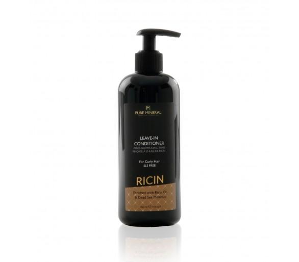 Acondicionador para el cabello rizado sin enjuague con aceite de ricino 350ml