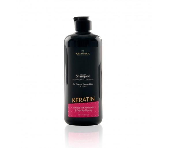 Szampon do włosów z czystą mineralną keratyną 500 ml