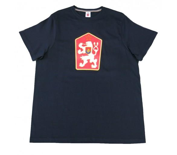 T-shirt Retro Cecoslovacchia blu