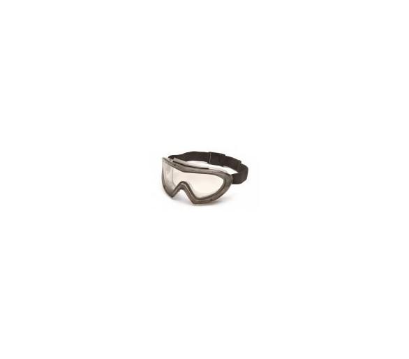 Capstone EGG504T, occhiali di sicurezza, montatura grigia, lenti trasparenti, antiappannamento