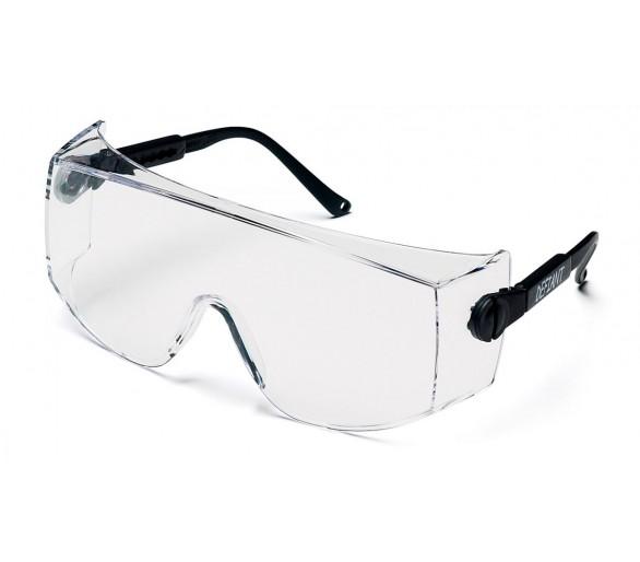 ESB1010SJ desafiador, óculos de proteção, lados pretos, transparentes