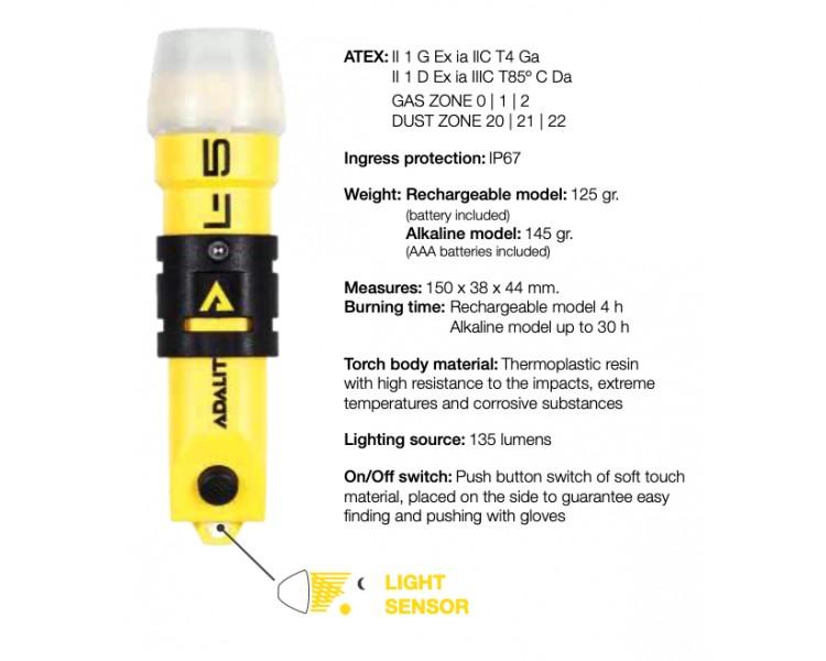 ADALIT L5 PLUS flashlight for potentially explosive atmospheres