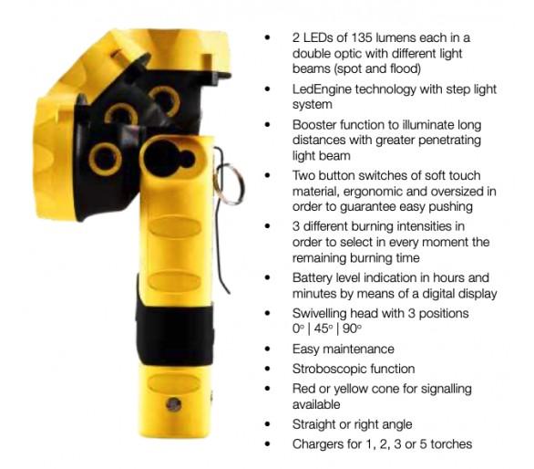 Linterna de seguridad ADALIT L-3000 con cargador de 220V