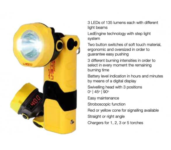 ADALIT L-3000 POWER safety flashlight with 220V charger
