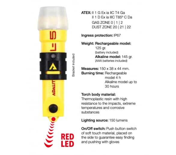 ADALIT L5 POWER flashlight for hazardous areas