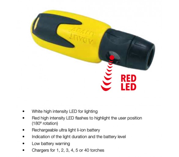 ADALIT L10.12V flashlight for potentially explosive atmospheres