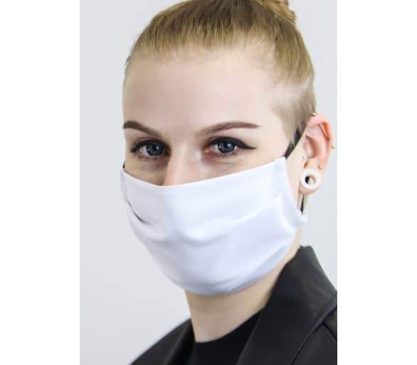 2-layer face protective textile drape