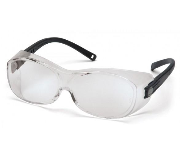OTS ES3510SJ, óculos de proteção, lados pretos, transparentes