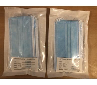 3-layer disposable facial medical mask - 10 pieces