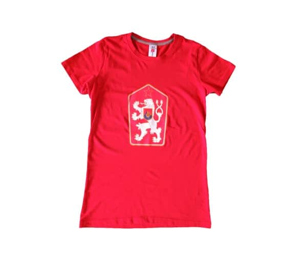 T-shirt Retro Tchécoslovaquie rouge