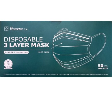 3-layer disposable medical face mask - 50 pieces