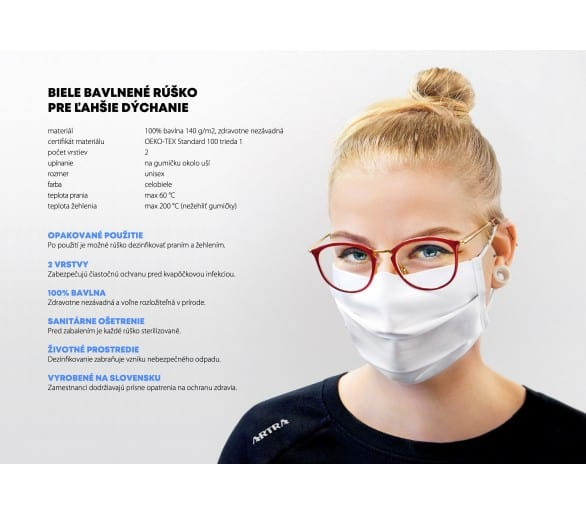 2-layer face protective textile mask