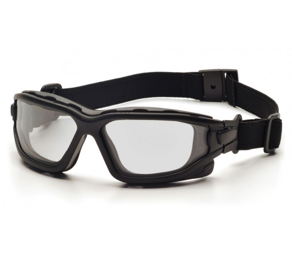 I-Force Slim ESB7010SDNT, safety goggles, anti-fog, black trim, clear