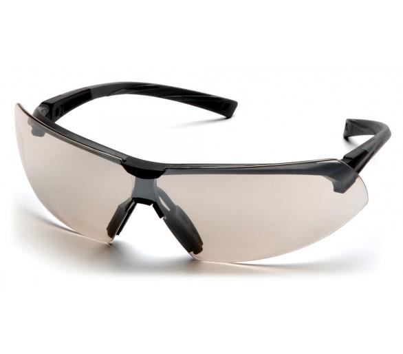 Onix ESB4980S, gafas de seguridad, moldura negra, espejo, lente de E / S