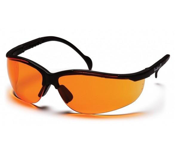 Venture II ESB1840S, védőszemüveg, fekete kerettel, élénk narancs