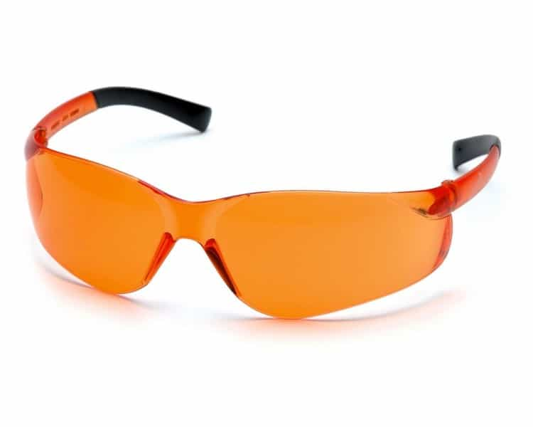 Ztek ES2540S, safety goggles, black side, orange
